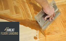 wood floor gap filling