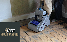 sanding wood floors in London